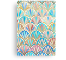 Vintage Twenties Art Deco Pastel Pattern Canvas Print