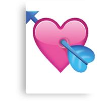 Arrow through heart Canvas Print