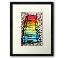Crayons, a Childs Rainbow Framed Print