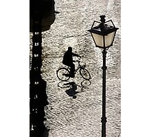 City Cyclist Photographic Print