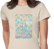 Vintage Twenties Art Deco Pastel Pattern Womens Fitted T-Shirt