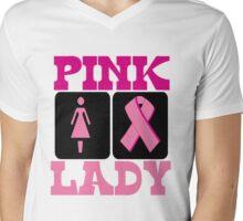 PINK LADY Mens V-Neck T-Shirt