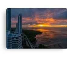 Dawn Divides the Horizon Canvas Print