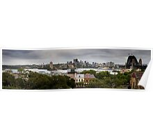 View of North Sydney From Observatory Park Poster