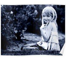 Nene in the Rose Garden Poster