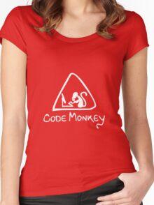 [W] Code Monkey Women's Fitted Scoop T-Shirt