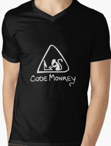 [W] Code Monkey Mens V-Neck T-Shirt