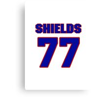 National football player Lebron Shields jersey 77 Canvas Print