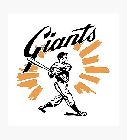San Francisco Giants Schedule Art from 1958 Photographic Print