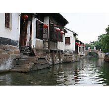 Traditional Houses in Zhouzhuang, China Photographic Print