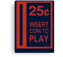 Coin-Op T-shirt Canvas Print