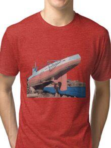 Sub on the Rocks Tri-blend T-Shirt