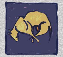 TIRED OLD DOG AT NIGHT  by SofiaYoushi