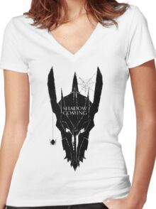 Shadow is coming Women's Fitted V-Neck T-Shirt