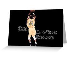 Kobe Bryant  3rd All Time Scoring NBA Lakers Greeting Card