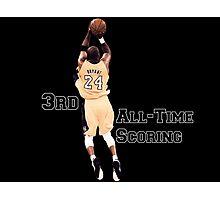 Kobe Bryant  3rd All Time Scoring NBA Lakers Photographic Print