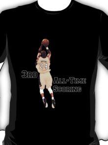 Kobe Bryant  3rd All Time Scoring NBA Lakers T-Shirt