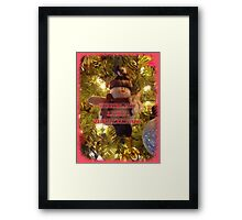 Merry Christmas Card for You Framed Print