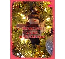 Merry Christmas Card for You Photographic Print