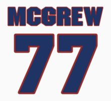 National football player Sylvester McGrew jersey 77 by imsport