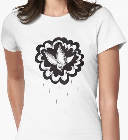 Raining Bird Womens Fitted T-Shirt