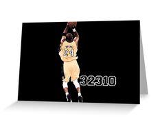 Kobe Bryant  All Time Scoring 32310  Greeting Card