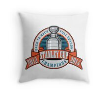 Back to Back Full Season Champions - Retro  Throw Pillow