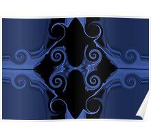 blue sword handle Poster