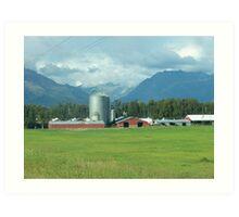 Farm in the Valley Art Print