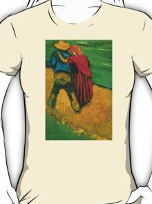 'Two Lovers' by Vincent Van Gogh (Reproduction) T-Shirt