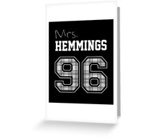 Mrs. Hemmings 96 black Greeting Card