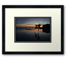 The Day We Left Earth Framed Print