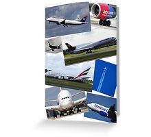 Aircraft Compilation Greeting Card