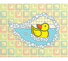 Chaucer the Rubber Duck Photographic Print