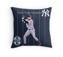 New York Yankees Captain Derek Jeter Throw Pillow