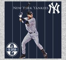 New York Yankees Captain Derek Jeter One Piece - Short Sleeve