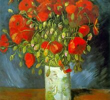 'Red Poppies' by Vincent Van Gogh (Reproduction) by Roz Abellera Art