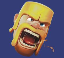Clash of clans barbarian head by Roaldtom