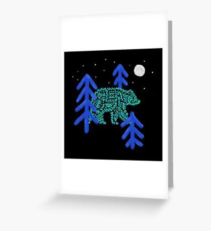 Night Walker Greeting Card