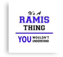 It's a RAMIS thing, you wouldn't understand !! Canvas Print