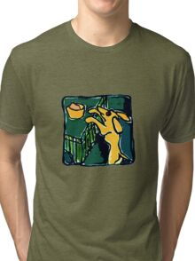 DOG  BOWL AND KITCHEN TABLE  Tri-blend T-Shirt