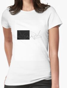 Origami Cranes 2 Womens Fitted T-Shirt