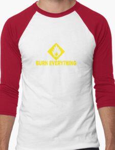 Burn Everything Men's Baseball ¾ T-Shirt