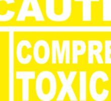 Caution - Compressed Toxic Gas Sticker