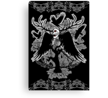 Nightmare Skull and Crows Canvas Print