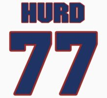 National football player Zach Hurd jersey 77 by imsport