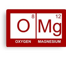O-Mg - Oxygen Magnesium Canvas Print