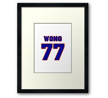 National football player Joe Wong jersey 77 Framed Print