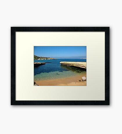 Malta Landscapes, Gnejna Bay Framed Print