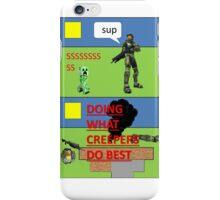 Minecraft vs Halo iPhone Case/Skin